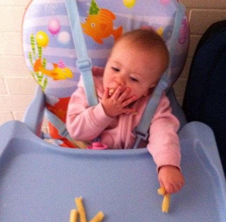 Amaya enjoying her chips