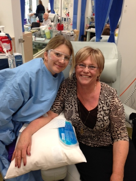 Me with my Chemo nurse Emma